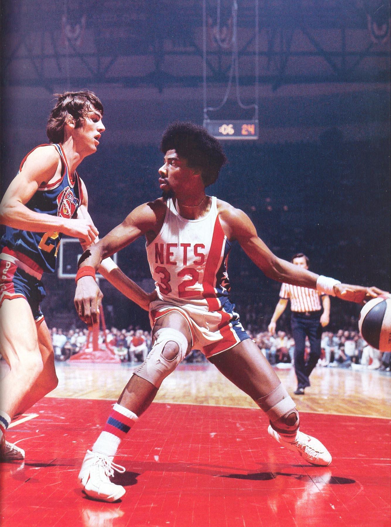 Nets 75 76 Home Julius Erving Nug s Bobby Jones